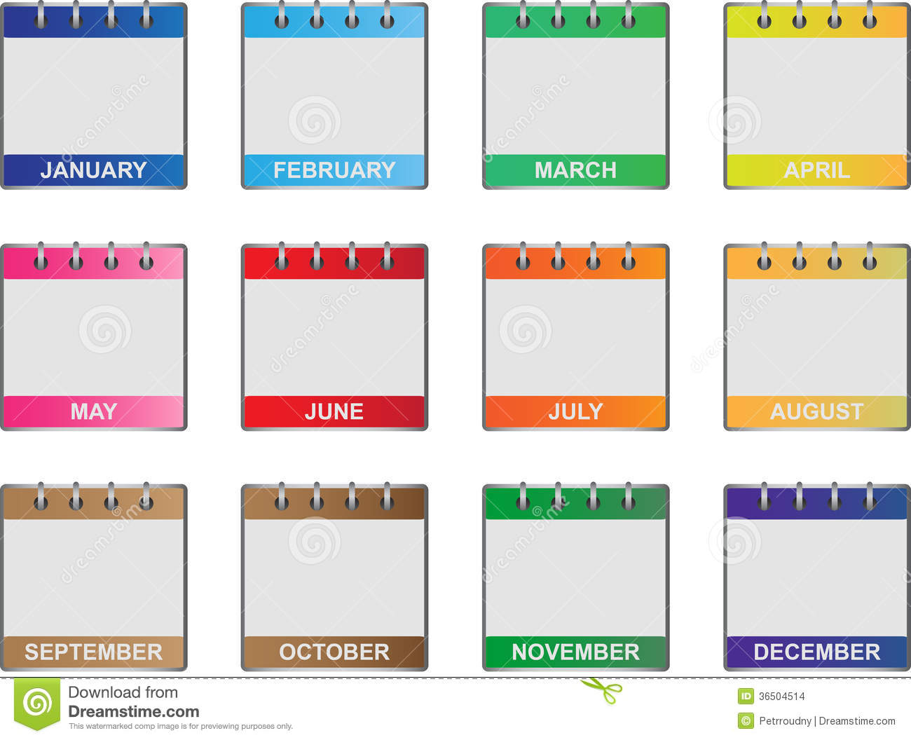Calendar month clipart banner free download Calendar Months Clipart - Clipart Kid banner free download