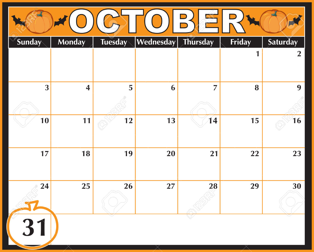 Calendar october clipart vector royalty free Calendar 31st clipart - ClipartFest vector royalty free