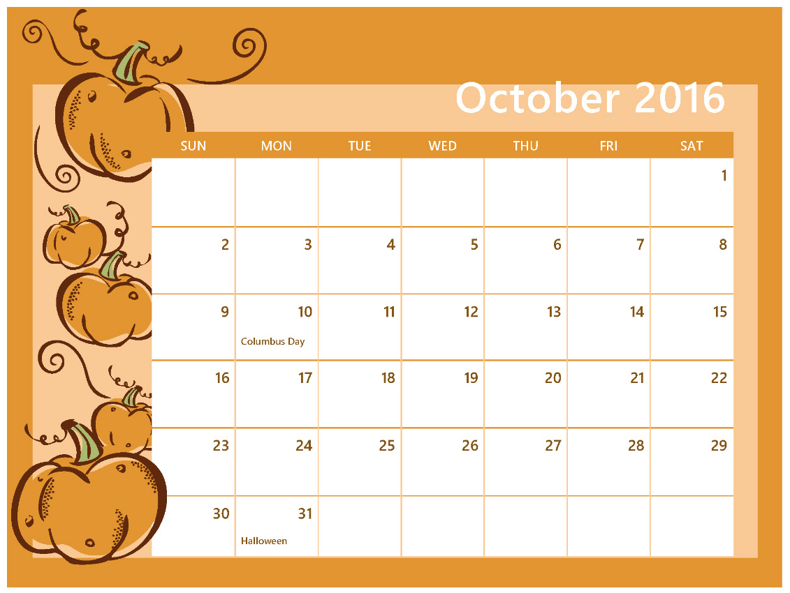 Calendar october clipart image freeuse stock October clipart cute - ClipartFest image freeuse stock