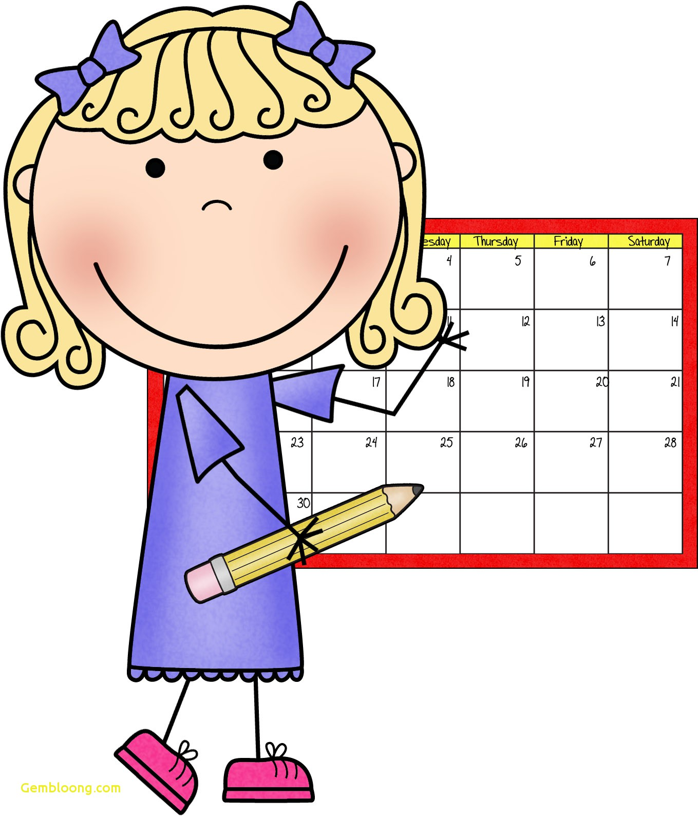 School begins clipart picture royalty free library Calendar Helper Clipart Lovely Making Inclusion Work 10 tips to help ... picture royalty free library