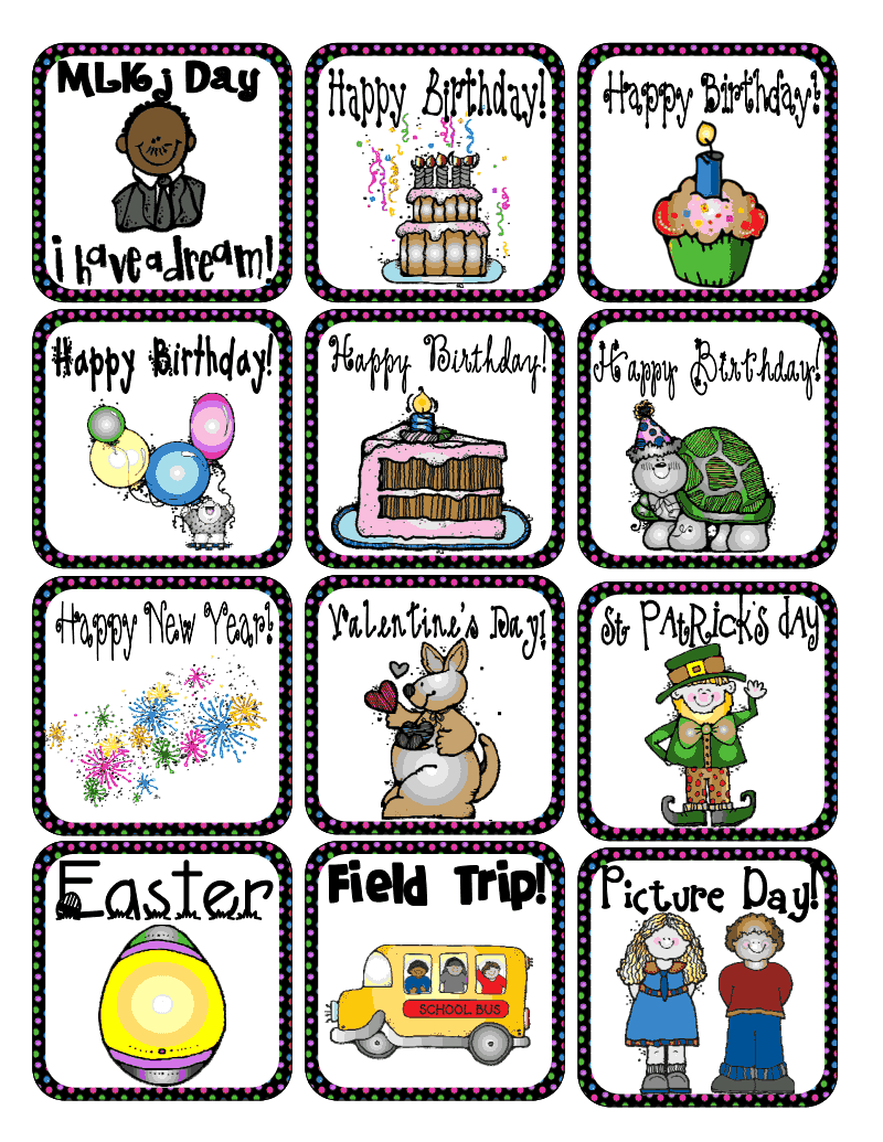 Calendar with holiday clipart clip art black and white download Special Events and Holiday Calendar pieces. pdf - | My Classroom ... clip art black and white download