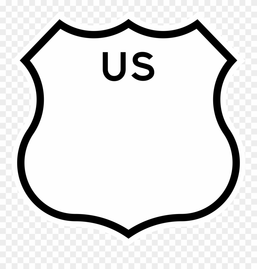California clipart black and white image free download Us Drawing Shield - U.s. Route 101 In California Clipart (#518006 ... image free download