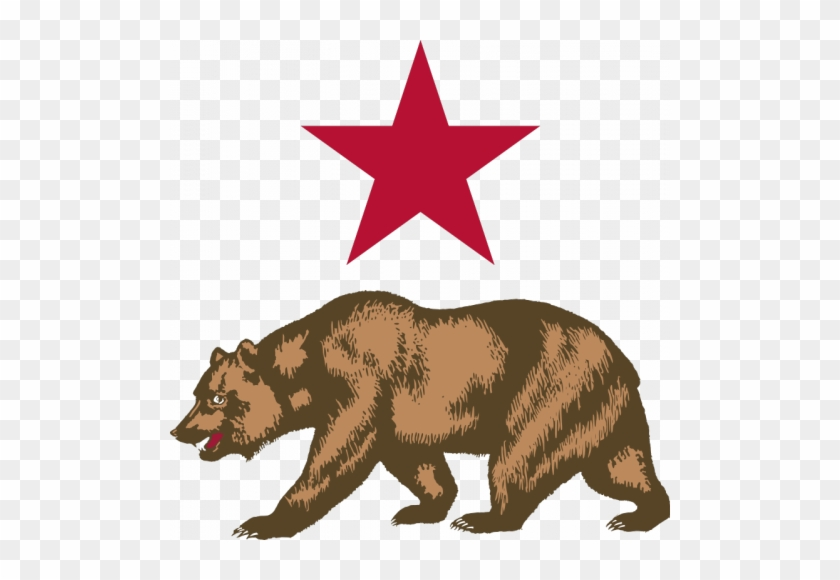 California flag clipart clip art library library Vector Image Of Bear And Star - New California Republic Flag - Free ... clip art library library