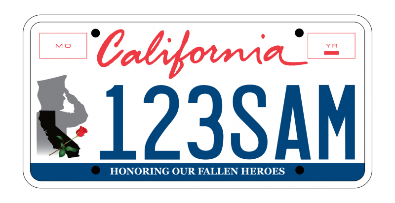 California license plate clipart