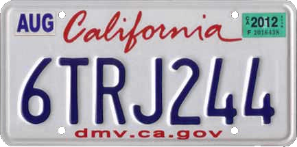 California license plate clipart image Vehicle registration plates of California - Wikipedia image