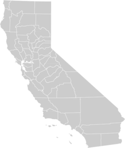 California map clipart graphic royalty free stock Blank California Map Clip Art at Clker.com - vector clip art ... graphic royalty free stock