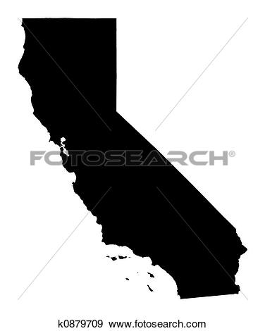 California map clipart png transparent download Drawing of California (USA) map k1015593 - Search Clipart ... png transparent download