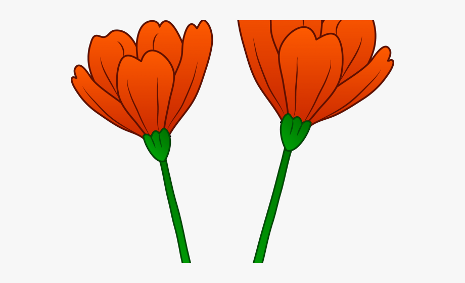 Free poppy flower clipart graphic black and white Poppy Clipart Orange Poppy - California Poppy Flower Cartoon #82441 ... graphic black and white