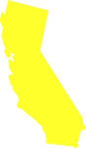 California state clipart vector library library Yellow California State Clip Art at Clker.com - vector clip art ... vector library library