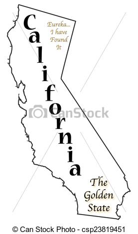 California state clipart clipart library Clipart Vector of California State Motto and Slogan - A California ... clipart library