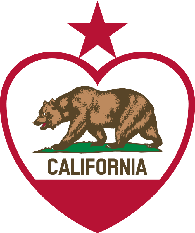 California state flower clipart image black and white library California flag clipart - ClipartFest image black and white library