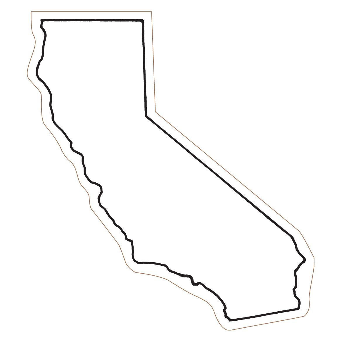 California thick outline clipart library California State Outline Clipart | For The Eyes | California state ... library