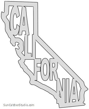 California thick outline clipart vector library California - Map Outline, Printable State, Shape, Stencil, Pattern vector library