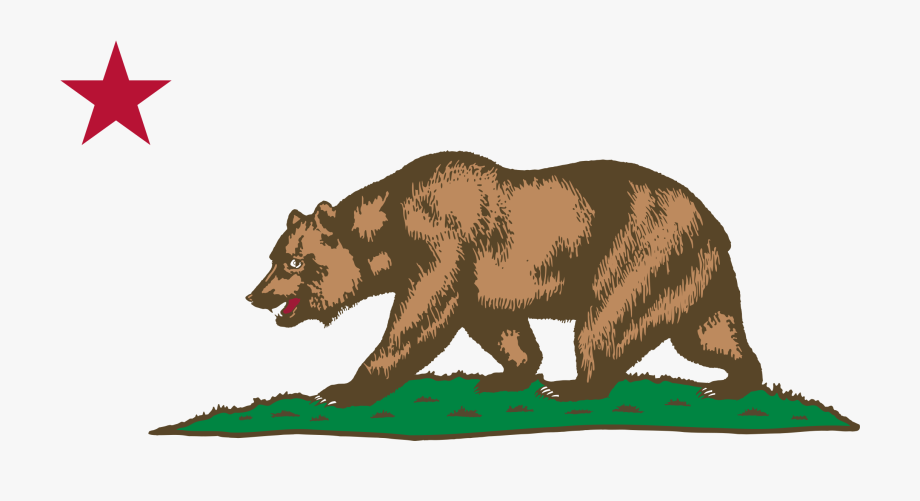 Californiastar clipart svg royalty free library Clipart - California Bear And Star, Cliparts & Cartoons - Jing.fm svg royalty free library