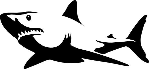 Great white clipart png transparent download Pics For > Great White Shark Clipart Black And White | Disneyland ... png transparent download