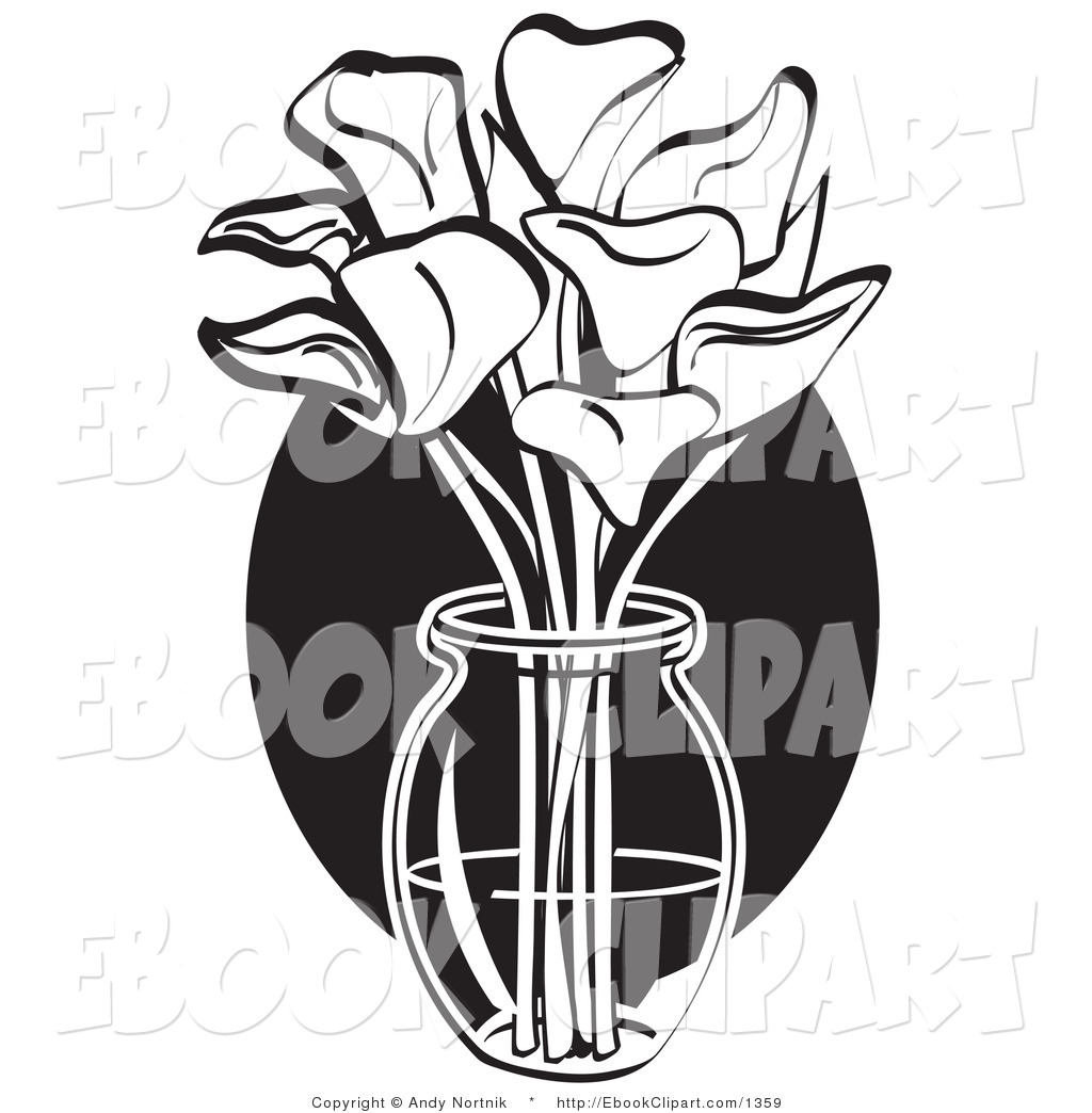 Calla lily bouquet black and white clipart svg library stock Flower Bouquet Clipart Black And White | Free download best Flower ... svg library stock