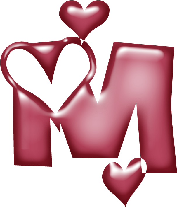 Calligraphy heart clipart vector Click here to see a large version   LETTER M   Pinterest   Decoupage ... vector