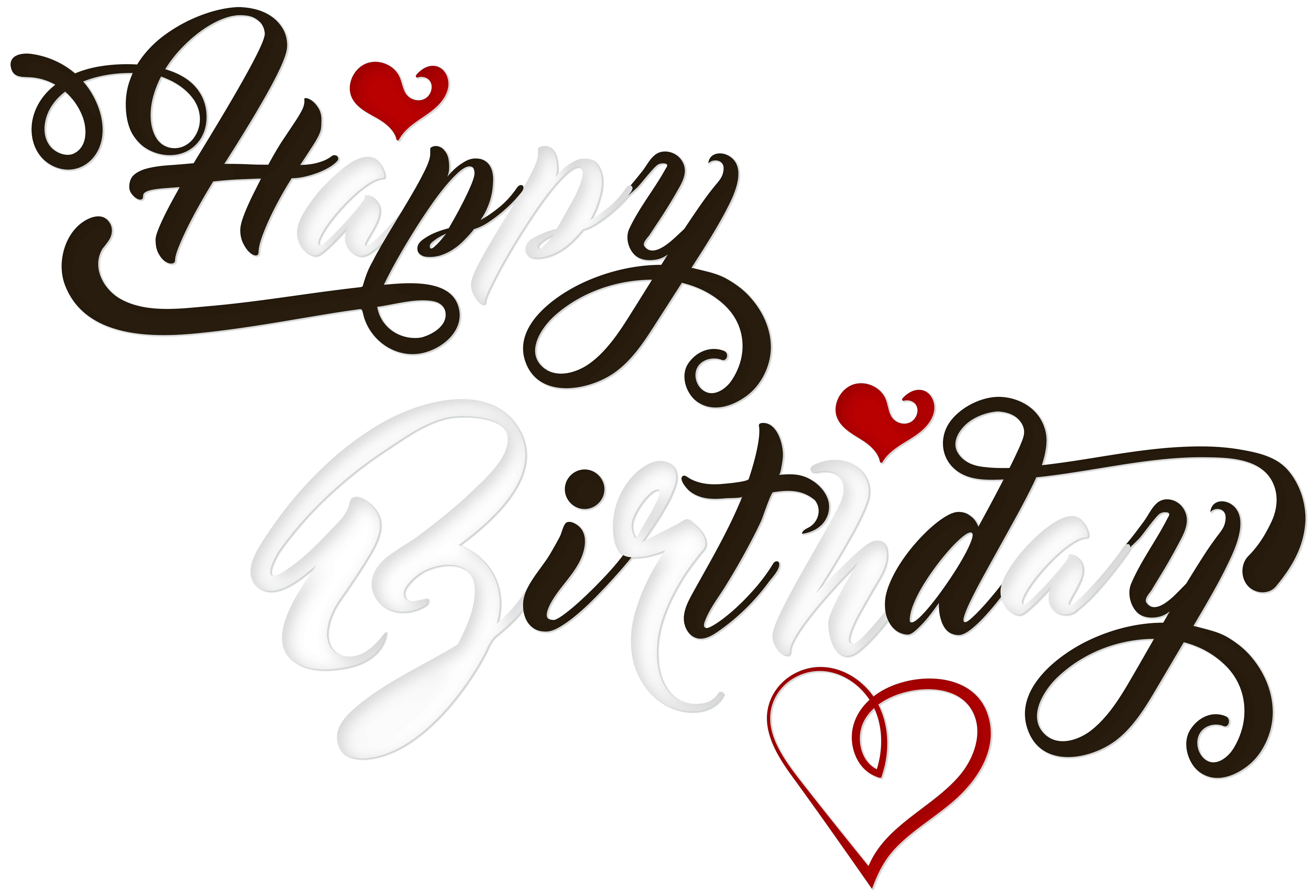 Calligraphy heart clipart vector royalty free stock Birthday cake Black and white Clip art - Happy Birthday Black and ... vector royalty free stock