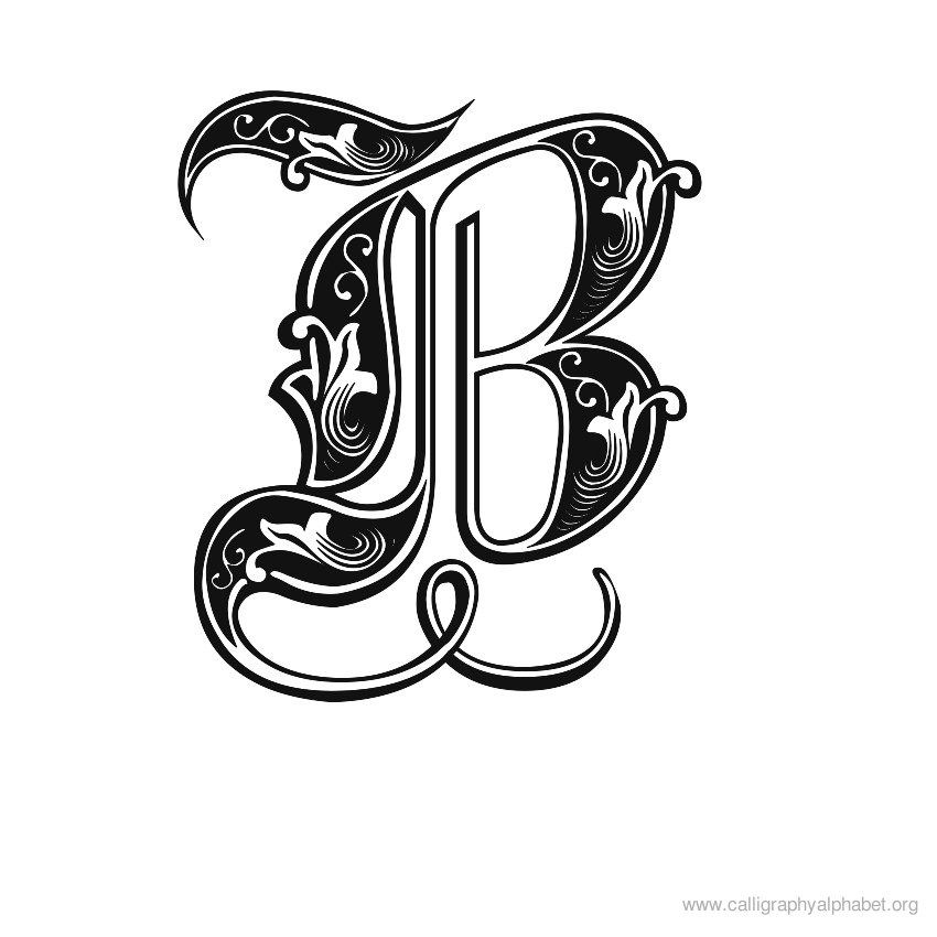 Calligraphy letters clipart clip art library stock Calligraphy Alphabet Fonts | Calligraphy Alphabet B | Alphabet B ... clip art library stock