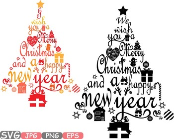 Calligraphy letters clipart clipart freeuse download Christmas trees star Happy new Year Word Art letters calligraphy clipart  -458s clipart freeuse download
