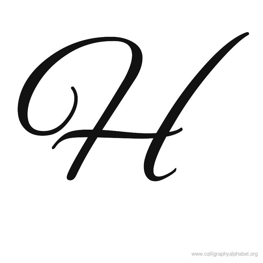 Calligraphy letters clipart clipart library Calligraphy Alphabet H | Alphabet H Calligraphy Sample Styles ... clipart library