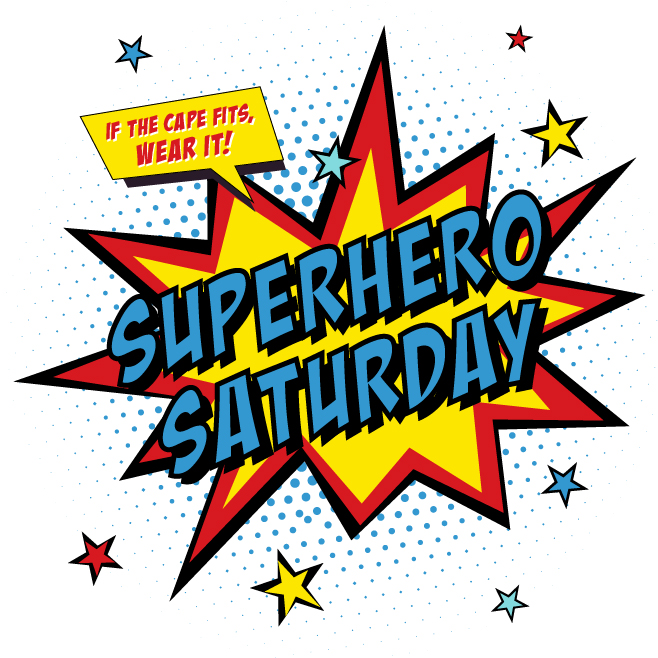Calling all superheroes clipart library Superhero Saturday - library