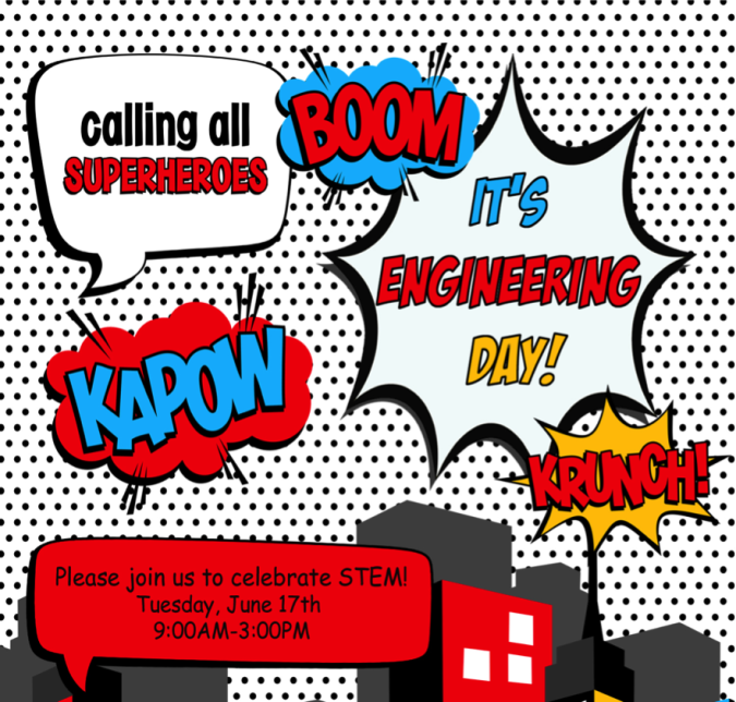 Calling all superheroes clipart banner free stock Calling All Superheroes! It\'s a fun filled STEM DAY! | Get Caught ... banner free stock