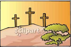 Calvary free clipart jpg free Crosses on Calvary Hill - Royalty Free Clipart Picture jpg free