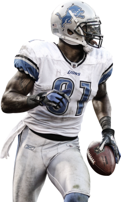 Calvin johnson clipart png freeuse Free Calvin Johnson (Madden 13 Cover Winner) [High Res] PSD Vector ... png freeuse
