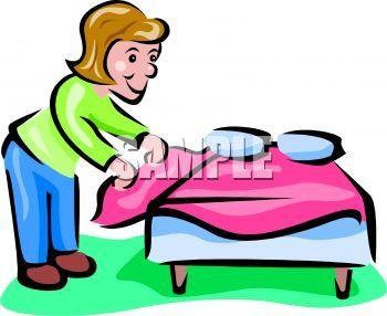Cama clipart clip royalty free Hago mi cama en la mañana. Yo hago mi cama los sábados y domingos ... clip royalty free