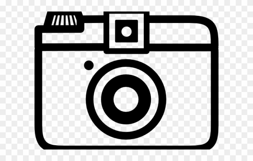 Camrea clipart clip art black and white Camera Clipart Artwork - Outline Of A Camera Png Transparent Png ... clip art black and white