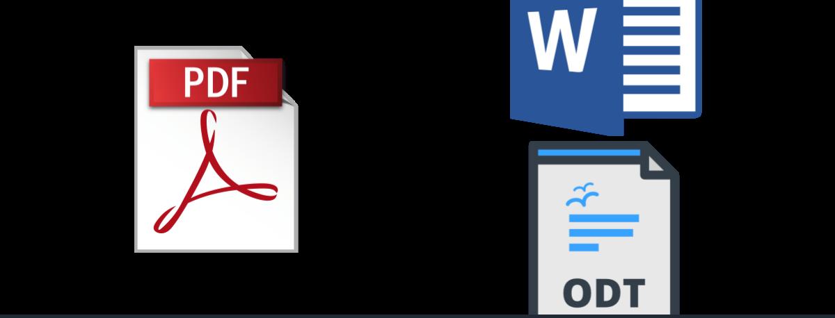 Cambiar formato de pdf a clipart clip freeuse PDF a texto: Cómo convertir un PDF a Word u ODT online y sin ... clip freeuse