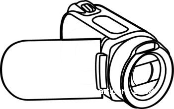 Camcorder clipart jpg black and white stock Digital Camcorder » Clipart Station jpg black and white stock