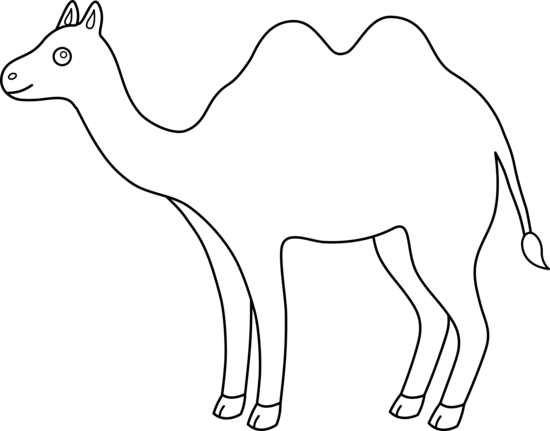 Camel clipart outline banner transparent stock Camel Clipart Black And White | Clipart Panda - Free Clipart Images banner transparent stock