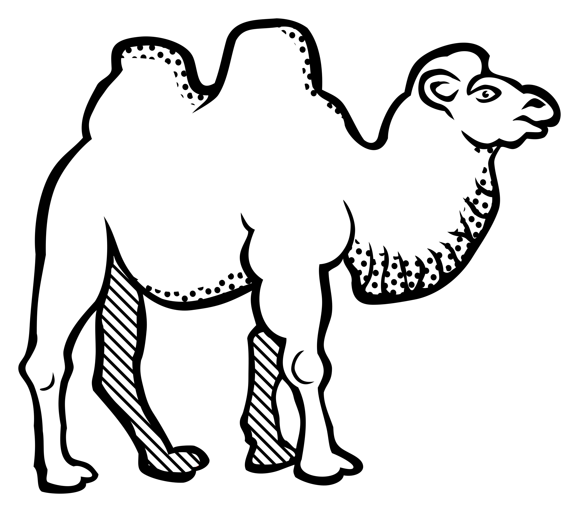Camel clipart outline image royalty free Camel Clipart Black And White | Free download best Camel Clipart ... image royalty free