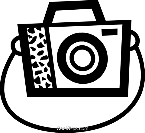Camera and strap clipart jpg freeuse stock Camera with strap Royalty Free Vector Clip Art illustration ... jpg freeuse stock