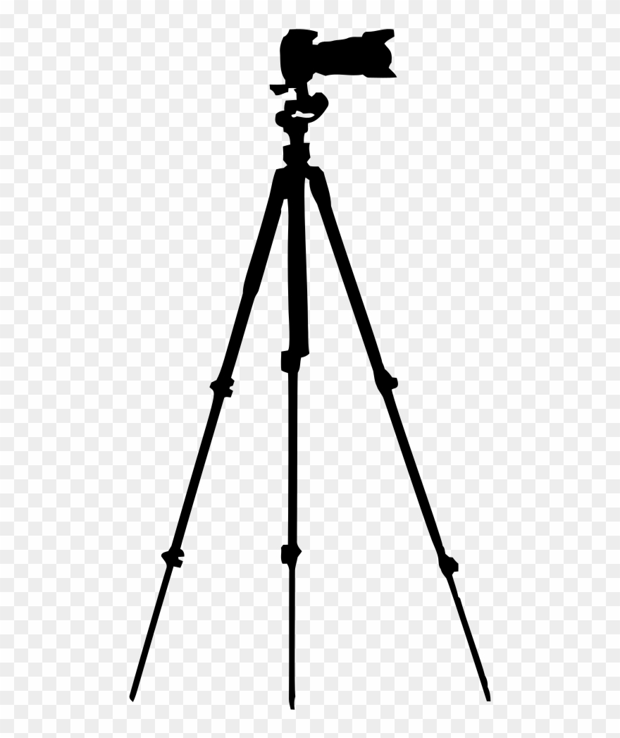 Camera and tripod clipart graphic library library Onlinelabels Clip Art - Camera On Tripod Png Transparent Png ... graphic library library