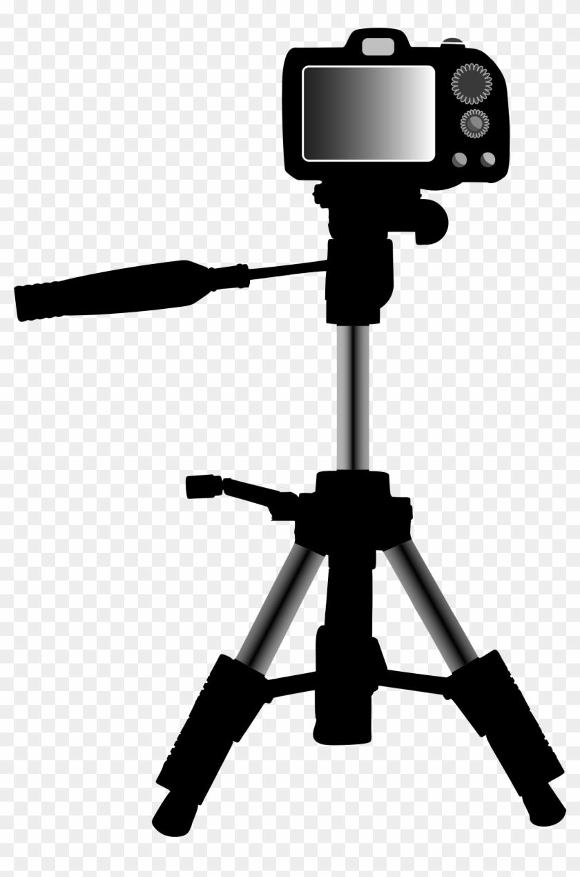 Camera and tripod clipart graphic freeuse download Big Image - Camera On Tripod Clipart Png, Transparent Png ... graphic freeuse download