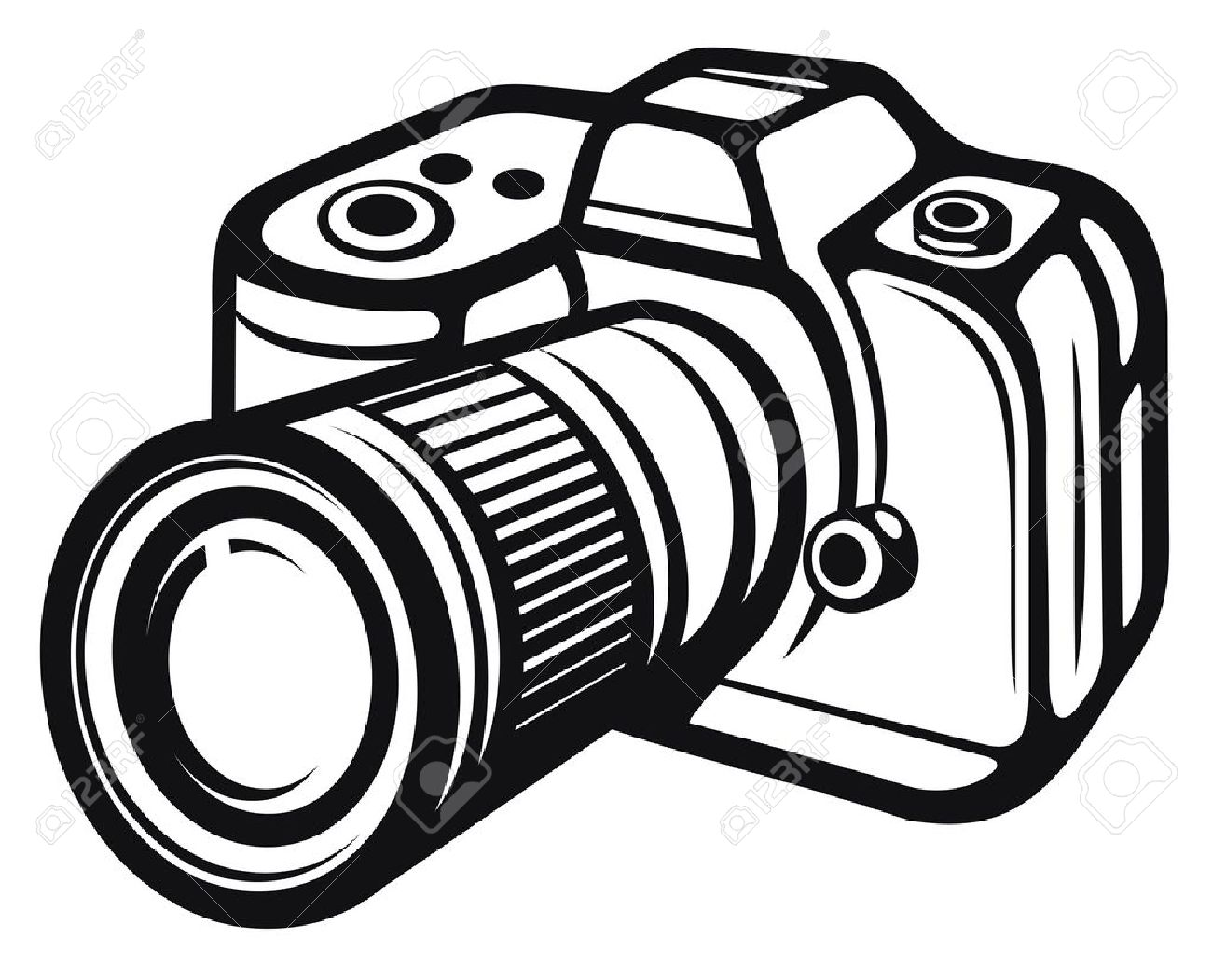 Camera black and white clipart svg library library Black And White Camera Clipart | Free download best Black And White ... svg library library