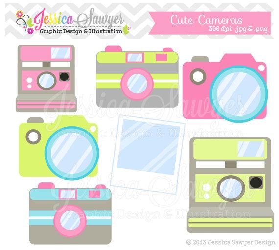 Camera clipart cute download INSTANT DOWNLOAD, cute camera clip art, camera clipart, photography ... download