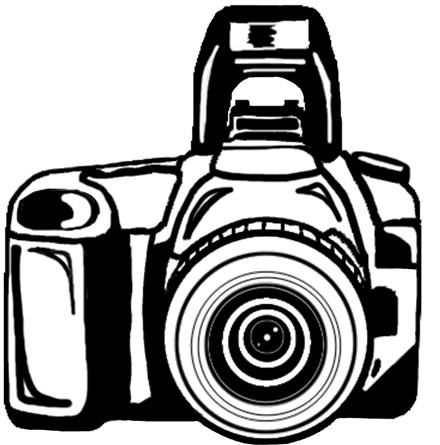 Camera clipart white picture freeuse library Camera clipart black and white free clipart | Cricut cut files ... picture freeuse library