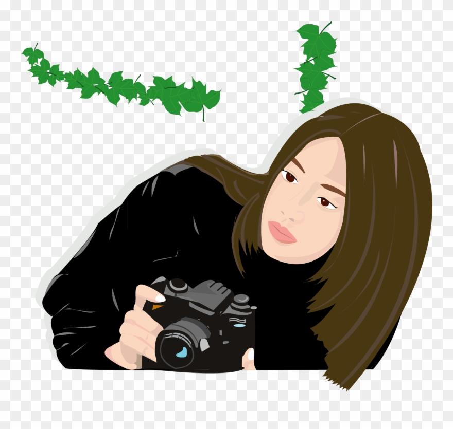 Camera lady clipart image jpg transparent download Dslr Clipart Svg - Camera Women Cartoon - Png Download (#4228007 ... jpg transparent download