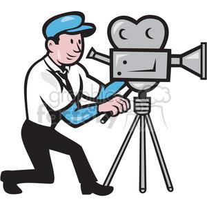 Clipart camera man