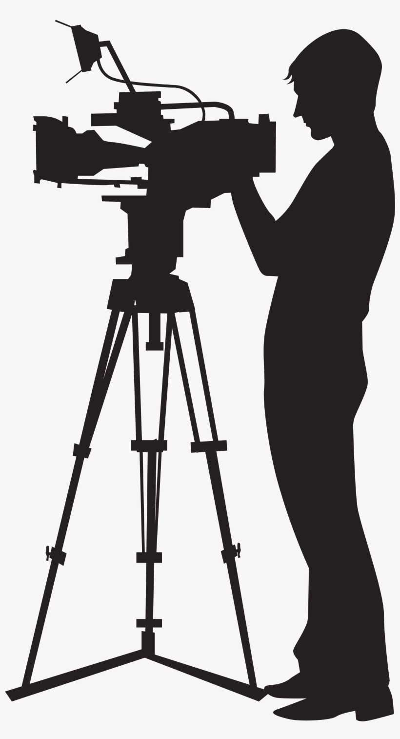 Camera man cliparts banner transparent download Picture Black And White Stock Camera Man Clipart - Camera Operator ... banner transparent download