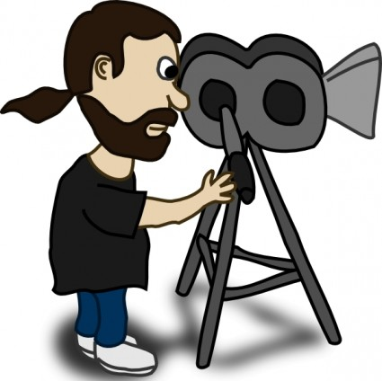 Camera man cliparts vector freeuse Free Cameraman Pictures, Download Free Clip Art, Free Clip Art on ... vector freeuse