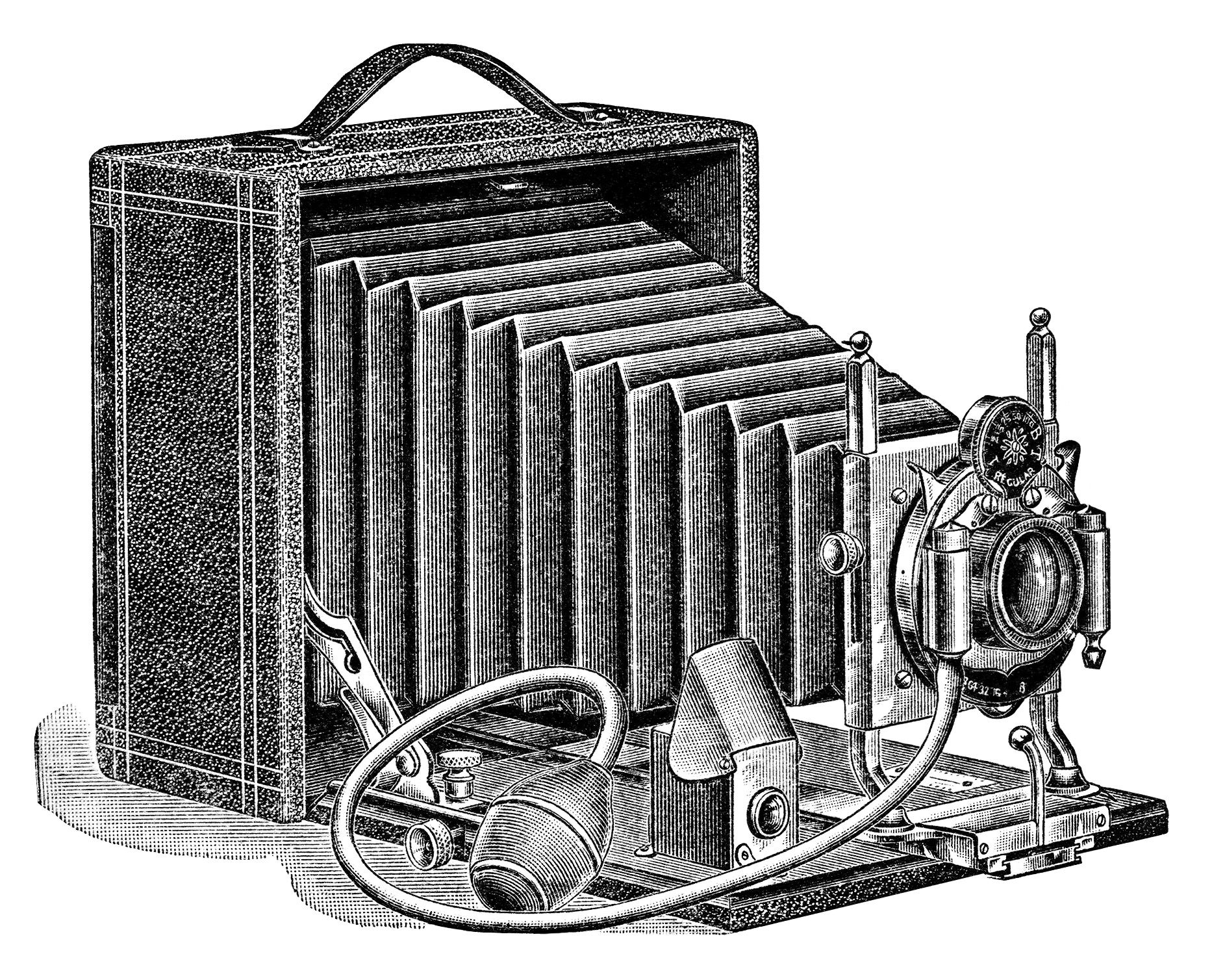 Camera old clipart jpg transparent stock aged paper ephemera, old fashioned camera image, black and white ... jpg transparent stock