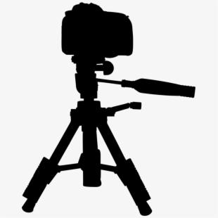 Camera on tripod clipart picture black and white download Video Camera Tripod Hd - Canon Eos Rebel T6 Tripod #2298535 - Free ... picture black and white download