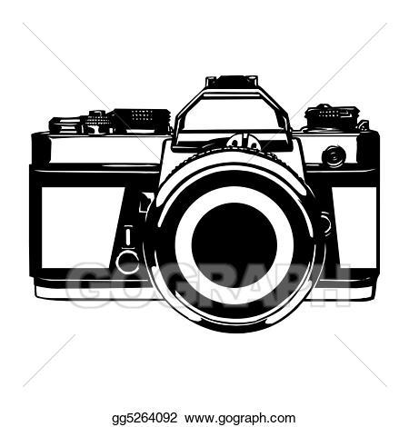 Camera vector clipart clip stock Vector Clipart - Photo camera. Vector Illustration gg5264092 - GoGraph clip stock