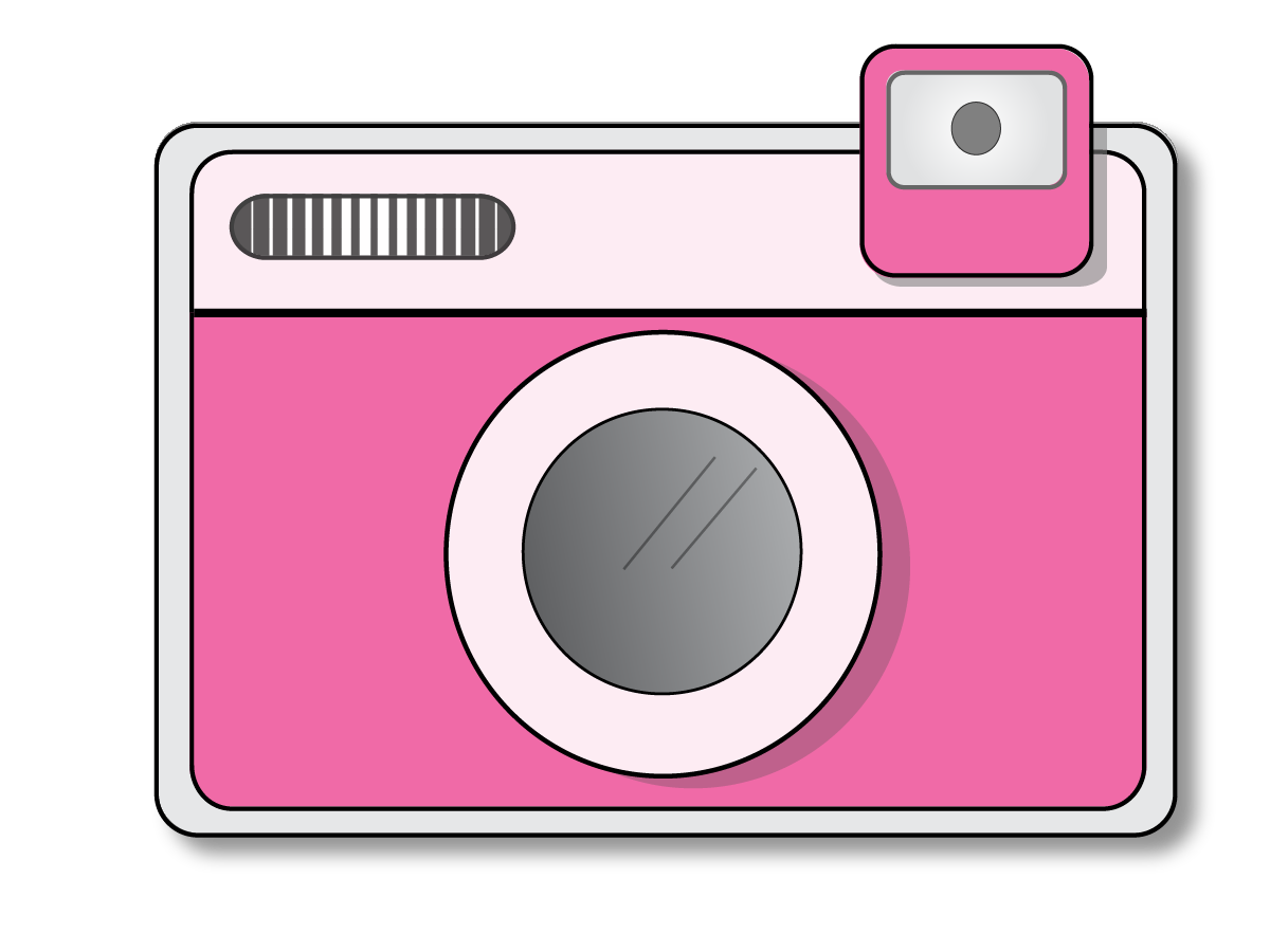 Camera with heart clipart picture black and white library camera clip art - Google Search | Cameras