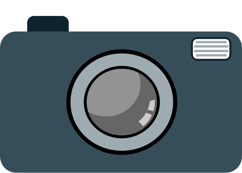 Camera with heart clipart